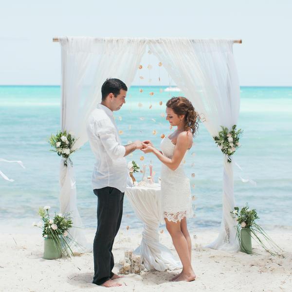 Свадебная церемония в стиле рустик на острове Саона Кристины и Геннадия – WedDesign – Свадьба в Доминикане