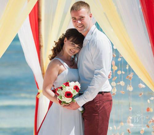 Евгения и Владимир | WedDesign – Свадьба в Доминикане