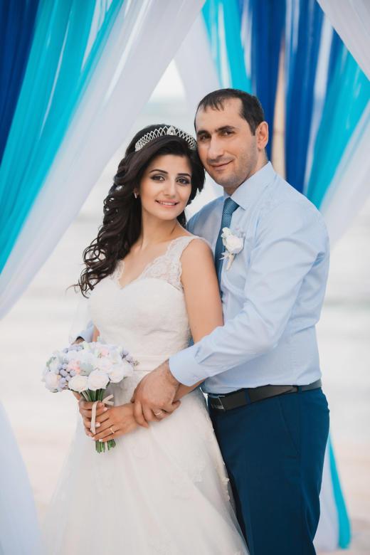Букет «Нежный» и бутоньерка для жениха – WedDesign | Свадьба в Доминикане