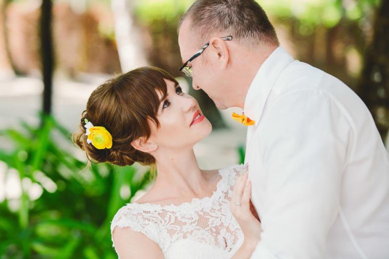 Украшение в волосы к букету «Желтые ранункулюсы» – WedDesign | Свадьба в Доминикане
