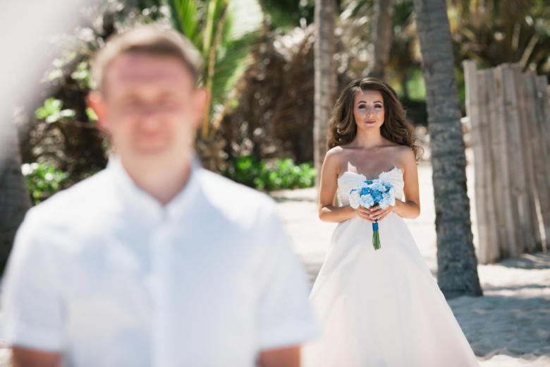 Букет «Нежный голубой» – WedDesign | Свадьба в Доминикане