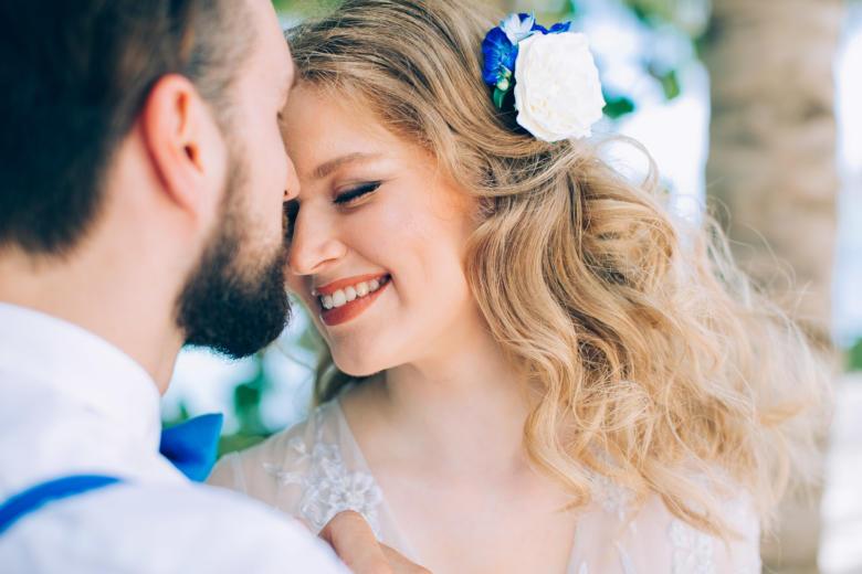 Украшение в волосы к букету «Нежный голубой» – WedDesign | Свадьба в Доминикане