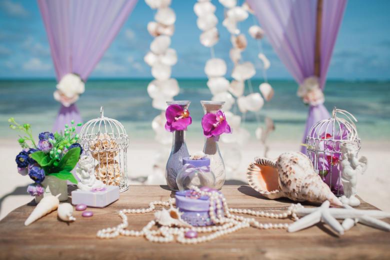 Лилово-пудровая свадьба в Доминикане Лилии и Алексея на пляже «Cabeza de Toro» – WedDesign | Свадьба в Доминикане