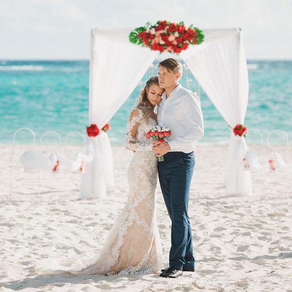 Свадьба в Доминикане на пляже «Баунти» с белым песком Дианы и Алексея – WedDesign – Свадьба в Доминикане