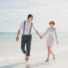 Свадебная церемония на пляже с белым песком в Доминикане Дмитрия и Екатерины – WedDesign – Свадьба в Доминикане