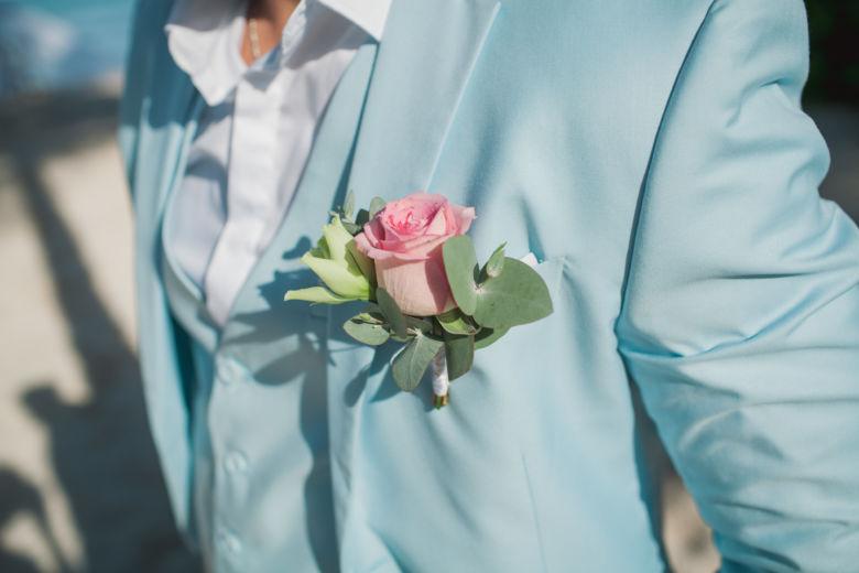 Бутоньерка для жениха с эвкалиптом – WedDesign | Свадьба в Доминикане