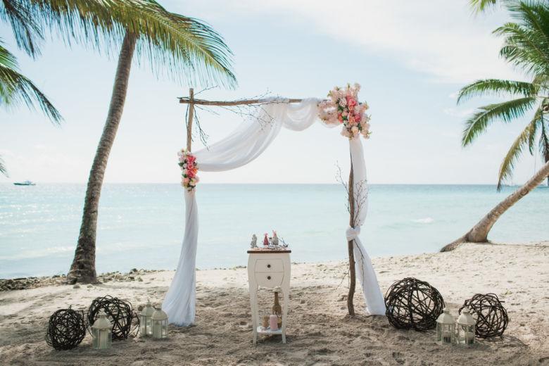 Свадебная арка в ЭКО стиле из дерева, веток и нежных цветов – WedDesign | Свадьба в Доминикане
