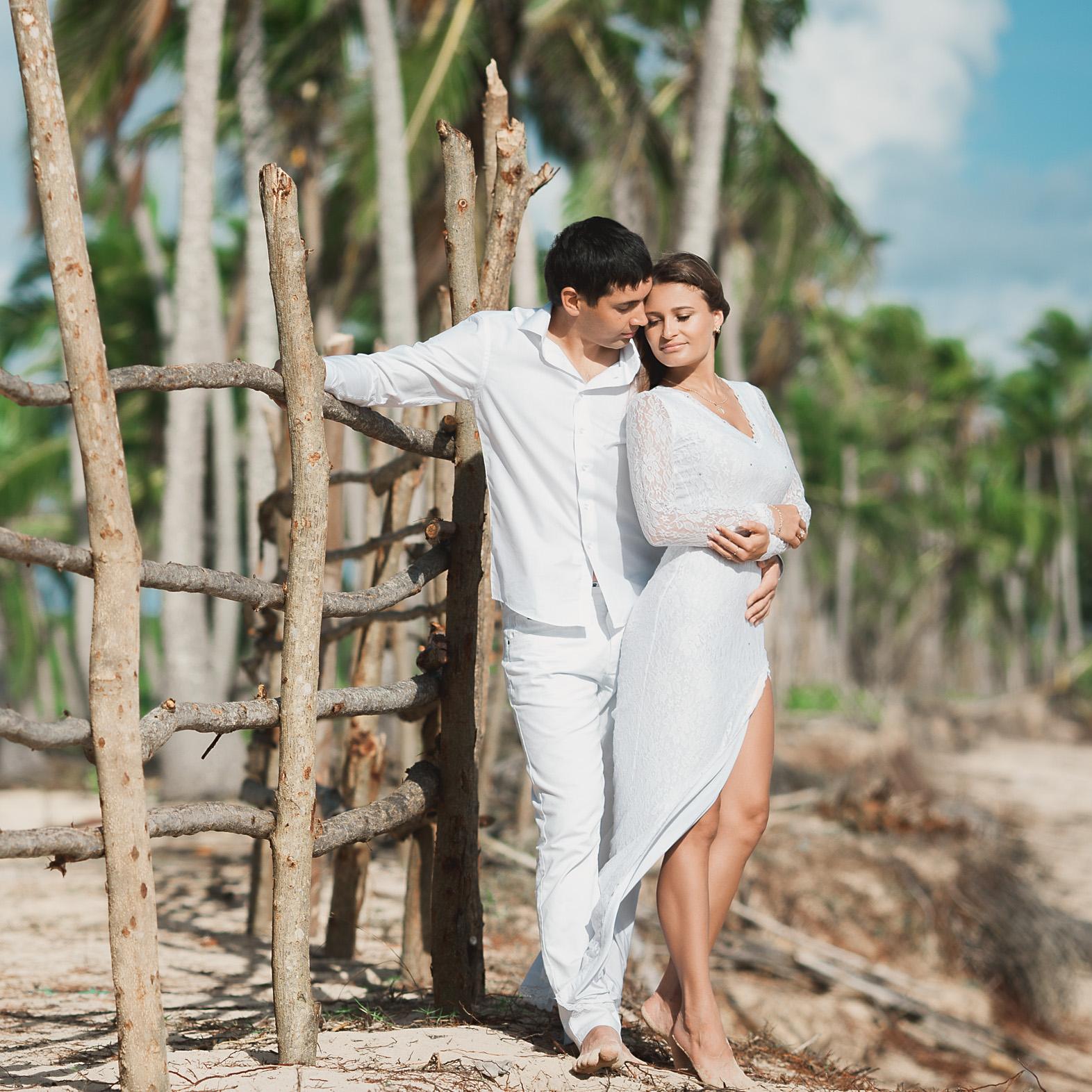 Свадебная фотосессия в Доминикане на пляже Макао Виктории и Азамата – WedDesign – Свадьба в Доминикане