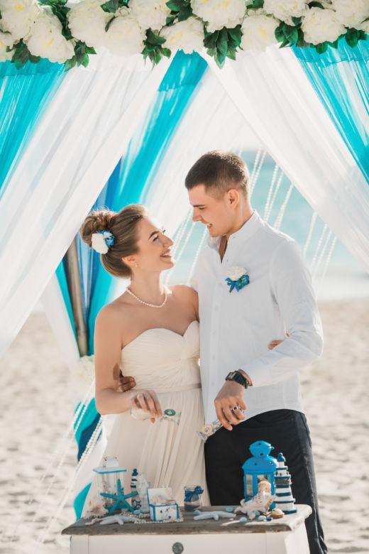 Свадебная церемония в Доминиканской Республике на пляже «Баунти» Юлии и Вячеслава | WedDesign – Свадьба в Доминикане