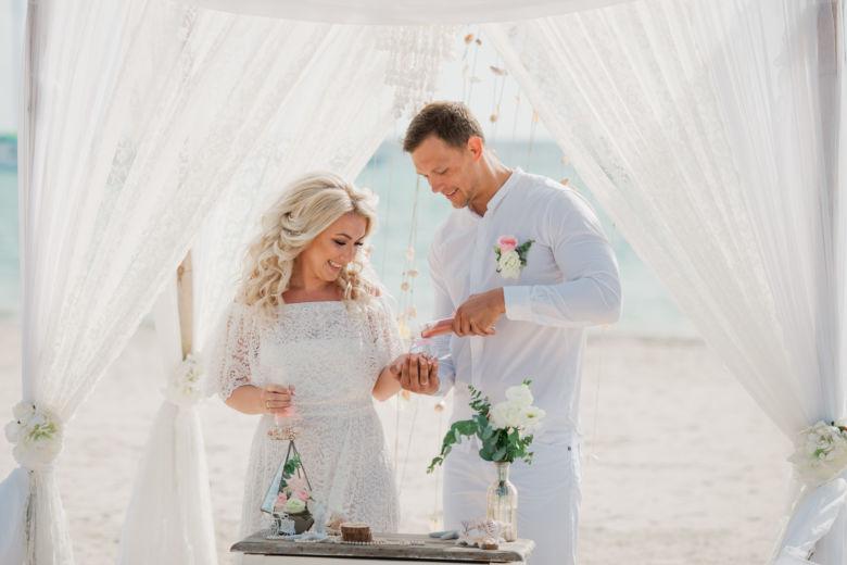 Свадебная церемония в стиле Бохо на пляже в Пунта-Кане – WedDesign – Свадьба в Доминикане