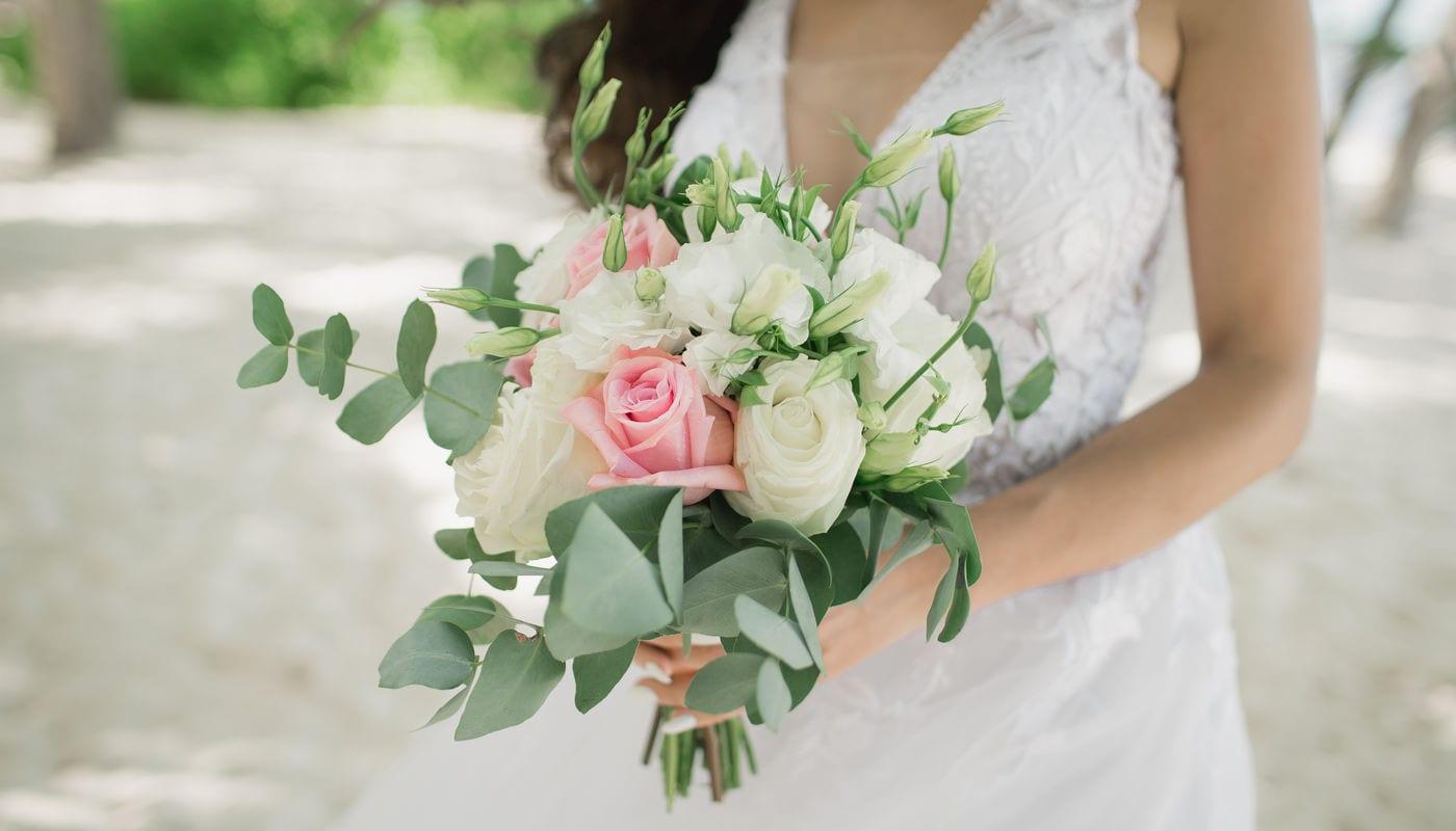 Свадебный букет из живых цветов – WedDesign – Свадьба в Доминикане