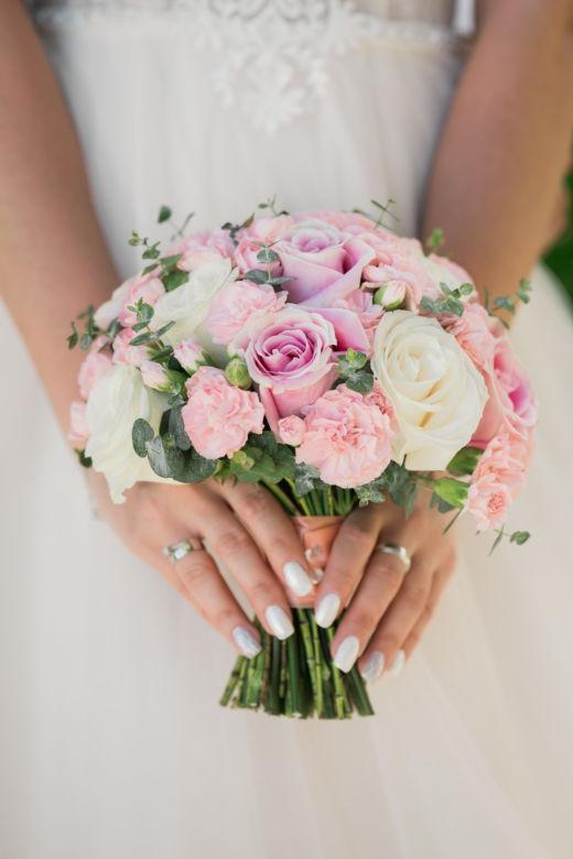 Нежный букет невесты круглой формы – WedDesign – Свадьба в Доминикане