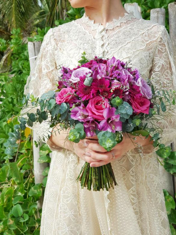 Яркий букет невесты – WedDesign – Свадьба в Доминикане