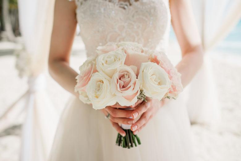 Букет в пудровом цвете – WedDesign – Свадьба в Доминикане