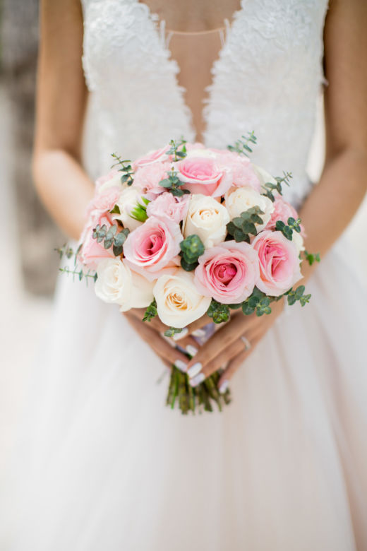 Нежно-розовый букет – WedDesign – Свадьба в Доминикане