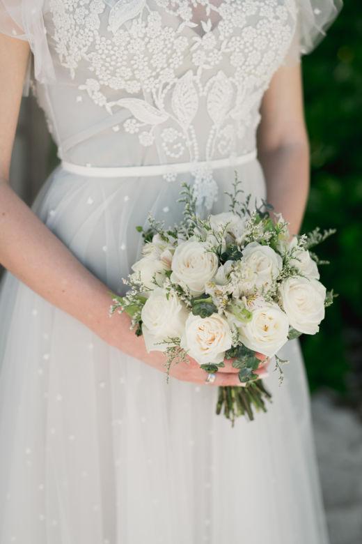 Белый букет с лимониумом – WedDesign – Свадьба в Доминикане