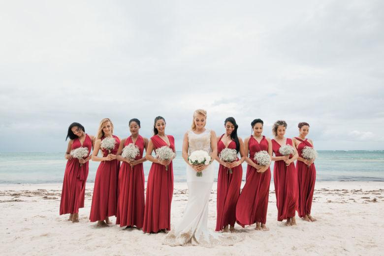 Букет невесты из белых роз – WedDesign – Свадьба в Доминикане