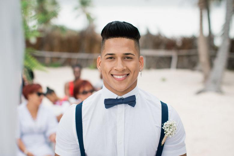 Бутоньерка из гипсофилы – WedDesign – Свадьба в Доминикане