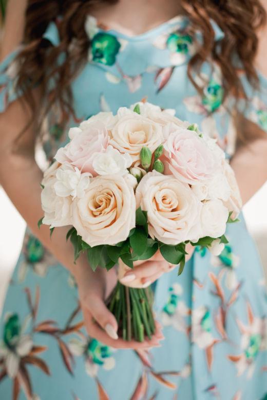 Пудровый букет невесты – WedDesign – Свадьба в Доминикане