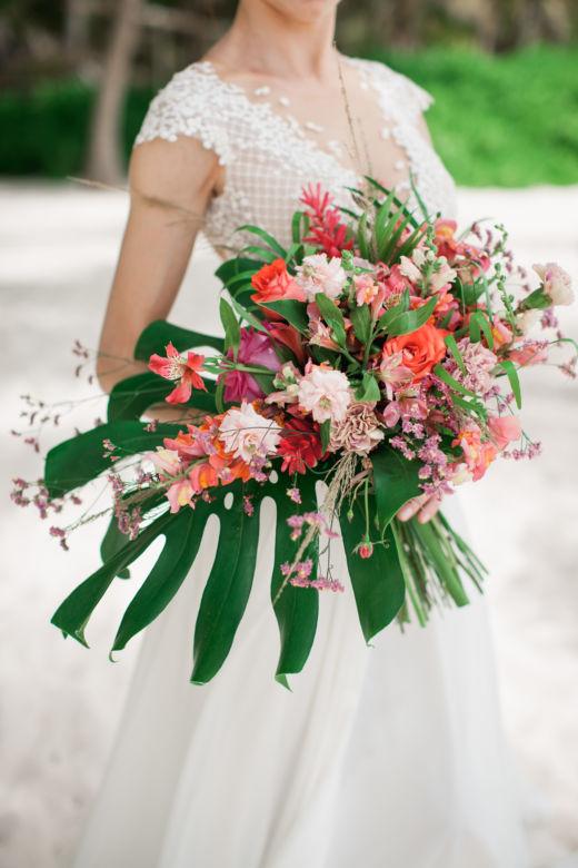 Тропический букет невесты – WedDesign – Свадьба в Доминикане