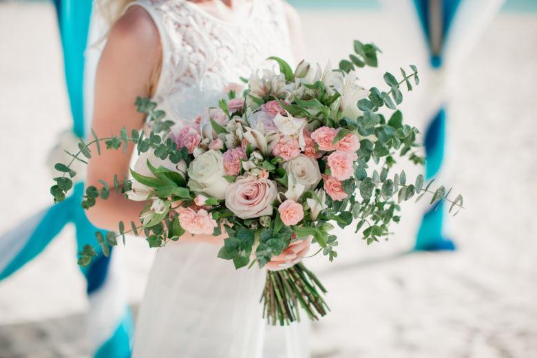Растрепыш с эвкалиптом – WedDesign – Свадьба в Доминикане