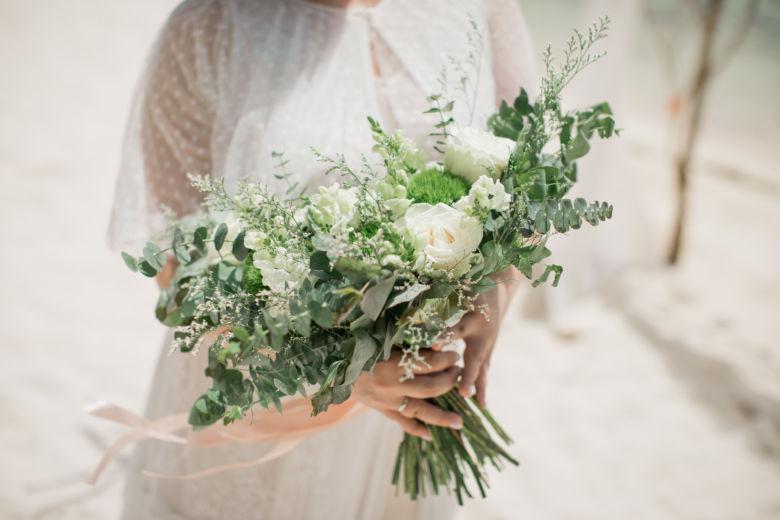 Растрепыш в бело-зеленом цвете – WedDesign – Свадьба в Доминикане