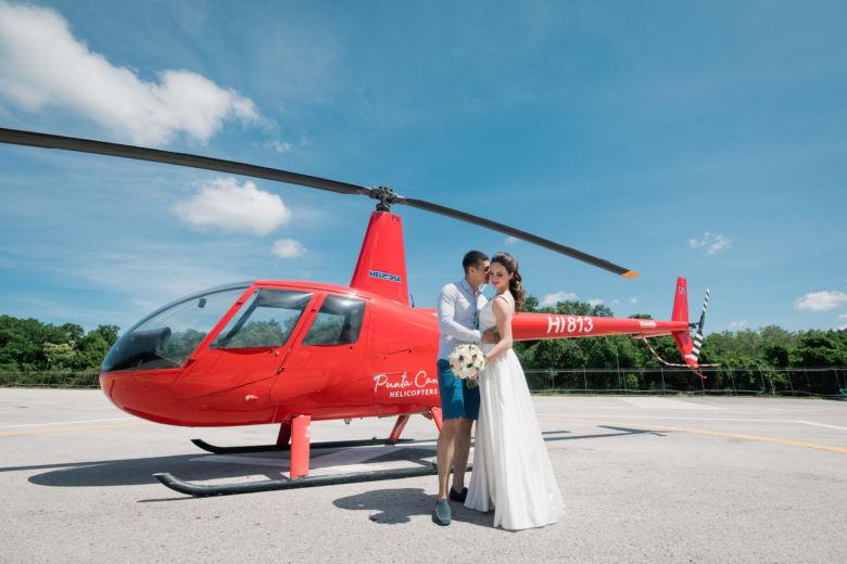 Полет на вертолете – WedDesign – Свадьба в Доминикане