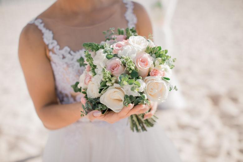 Круглый свадебный букет – WedDesign – Свадьба в Доминикане