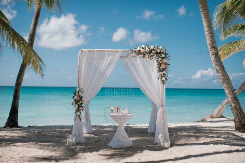 Живые цветы. Розовая гамма – WedDesign – Свадьба в Доминикане