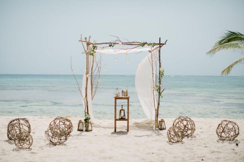 Арка из веток в эко стиле – WedDesign – Свадьба в Доминикане