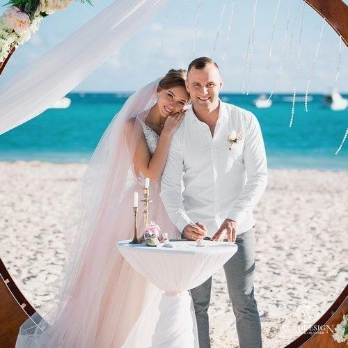 Андрей и Валентина   WedDesign – Свадьба в Доминикане